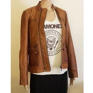54f7cb9eb726d3 Women Michael Kors Leather Moto Jacket on Poshmark